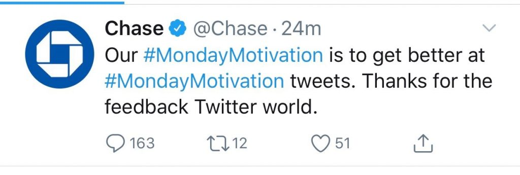 Chase's Twitter Blunder Shows Failure to Offer Value | Mabus